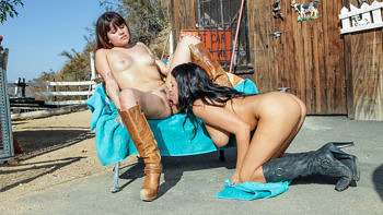 Lacie James & Raquel Roper in Barrel Race or Sittin' on Face?