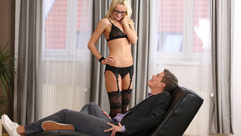 Victoria Pure in Blonde Fucks On Leather Chase