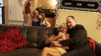 Ariel Mcgwire & Emma Hix in New Years Family Fuck