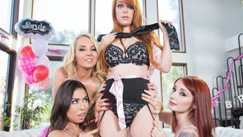 Penny Pax, Violet Monroe, Melissa Moore & Aaliyah Love in Strap-On Stories: Gangbang Bachelorette