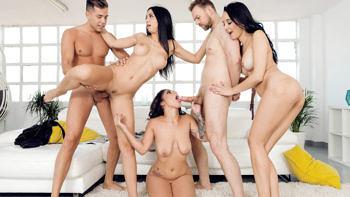 Francys Belle, Julia De Lucia & Aysha in Our Euro Sex Trip