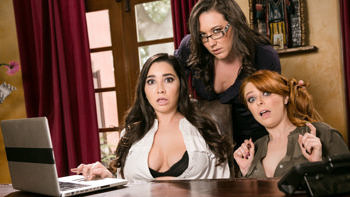 Penny Pax, Karlee Grey & Sinn Sage in Lady Boss: Caught at the Office