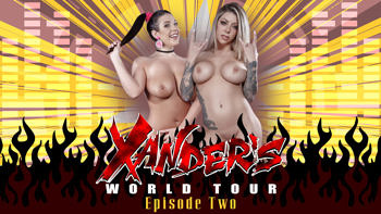 Angela White & Karma Rx in Xander's World Tour