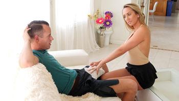 Brett Rossi in Horny Stepmom Massages Stepson's Huge Cock