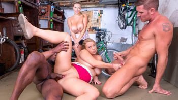 Crystal Swift & Bambi Bella in Curvy Busty Babes Let Loose In the Workshop