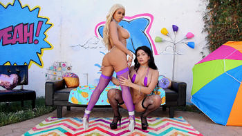 Aaliyah Hadid & Luna Star in Getting Nasty