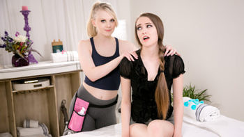 Lily Rader & Samantha Hayes in Corporate Massage