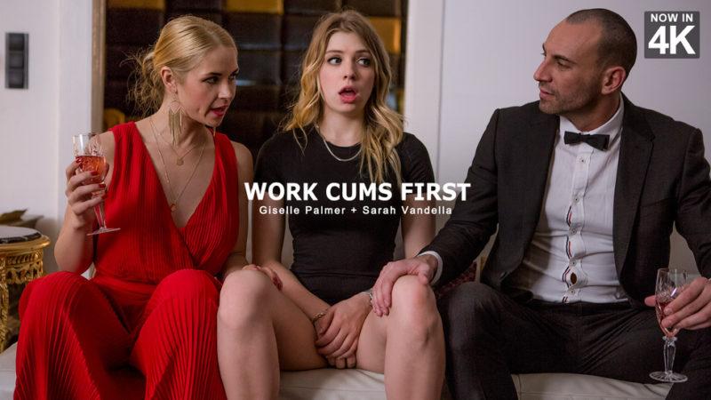 Giselle Palmer & Sarah Vandella in Work Cums First