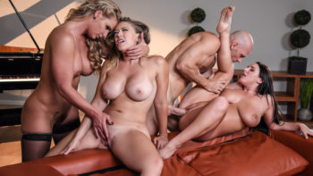 Angela White, Kagney Linn Karter & Phoenix Marie in Dinner For Cheats
