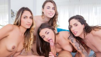 Elle Rose, Lara Romero, Linda del Sol and Baby Nicols in Pajama Parties with Big Cocks